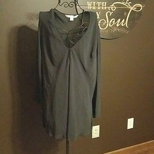 Victoria's Secret sheer black cover up- Large